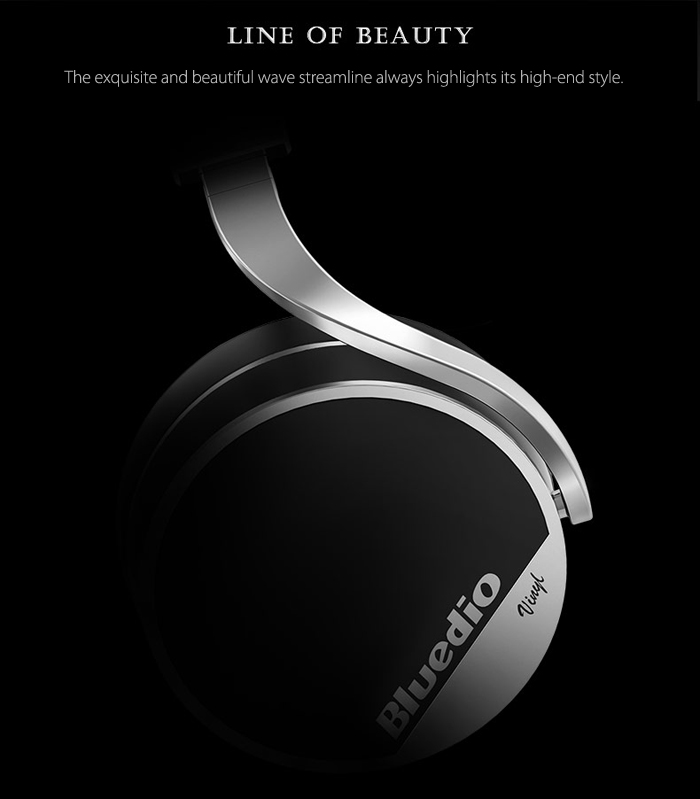 Bluedio VINYL Plus Fodable 3D Sound Bluetooth Headphones Support Calls Answer with 70mm Big Driver