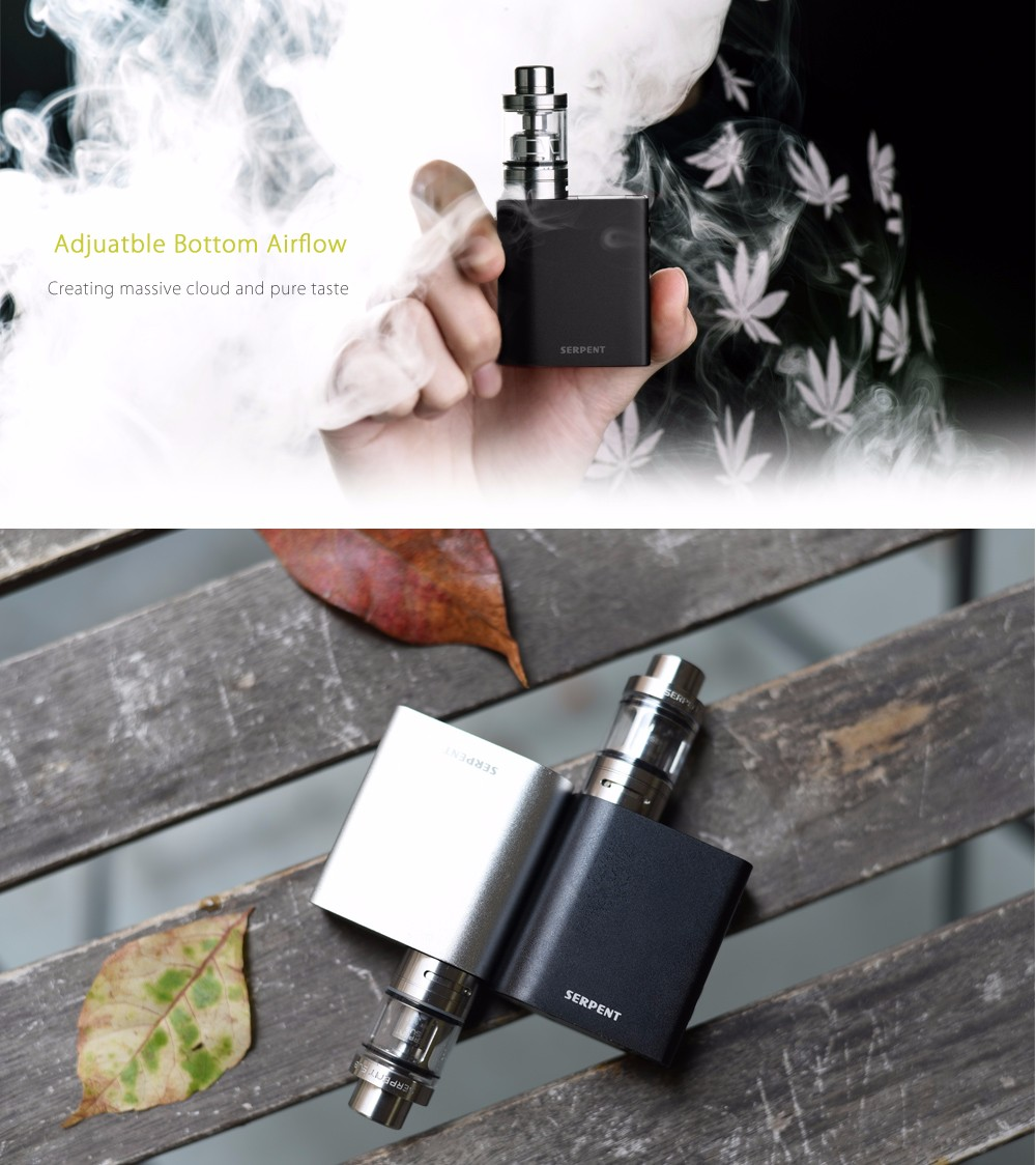 Original Wotofo Serpent 50W Box Mod Full Kit with 200 - 600F / 100 - 315C / Built-in 2000mAh Lithium-ion Battery for E Cigarette