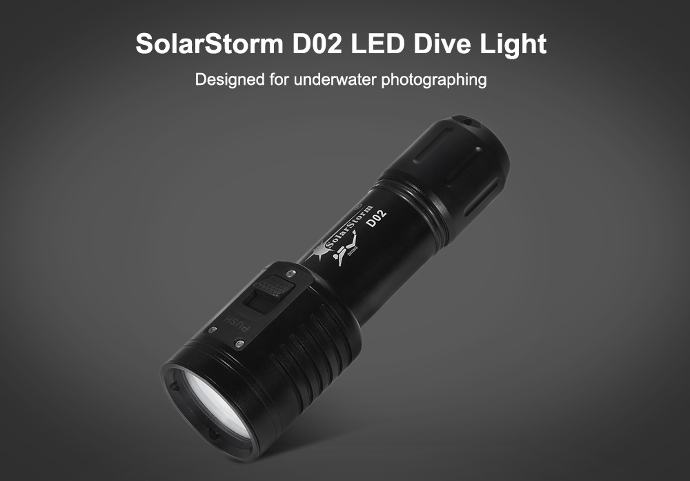 SolarStorm D02 Cree XP - G2 XPE 900Lm Diving LED Flashlight Underwater Photographing