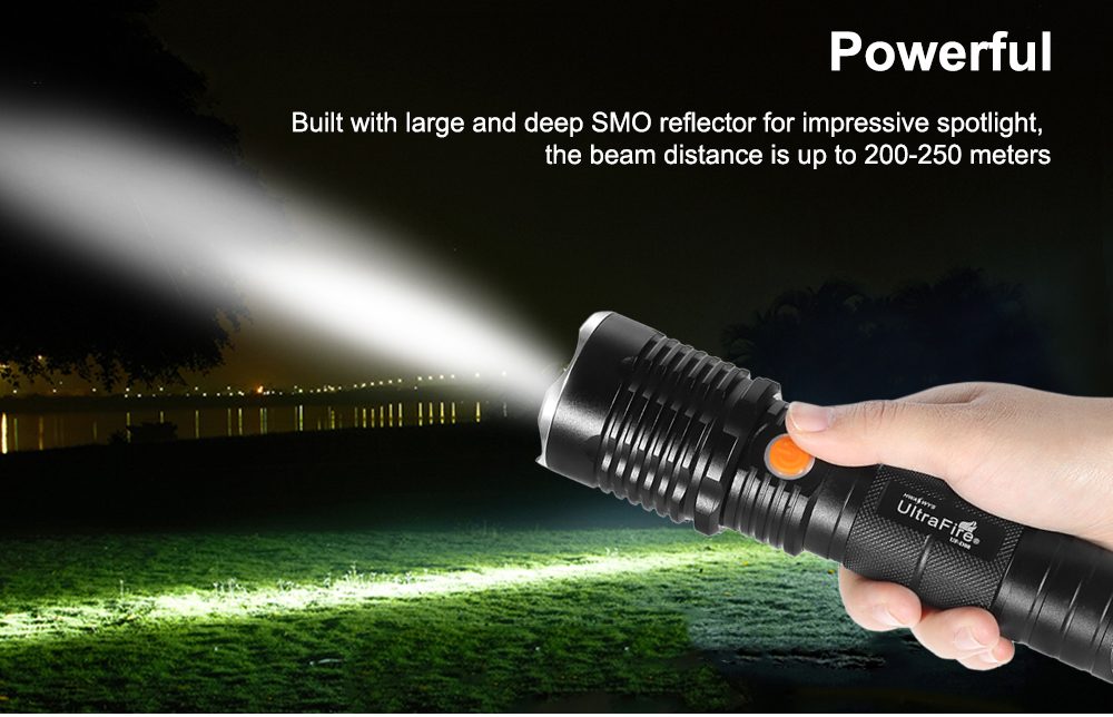 UltraFire UF - D08 Cree XML T6 689Lm Rechargeable LED Flashlight