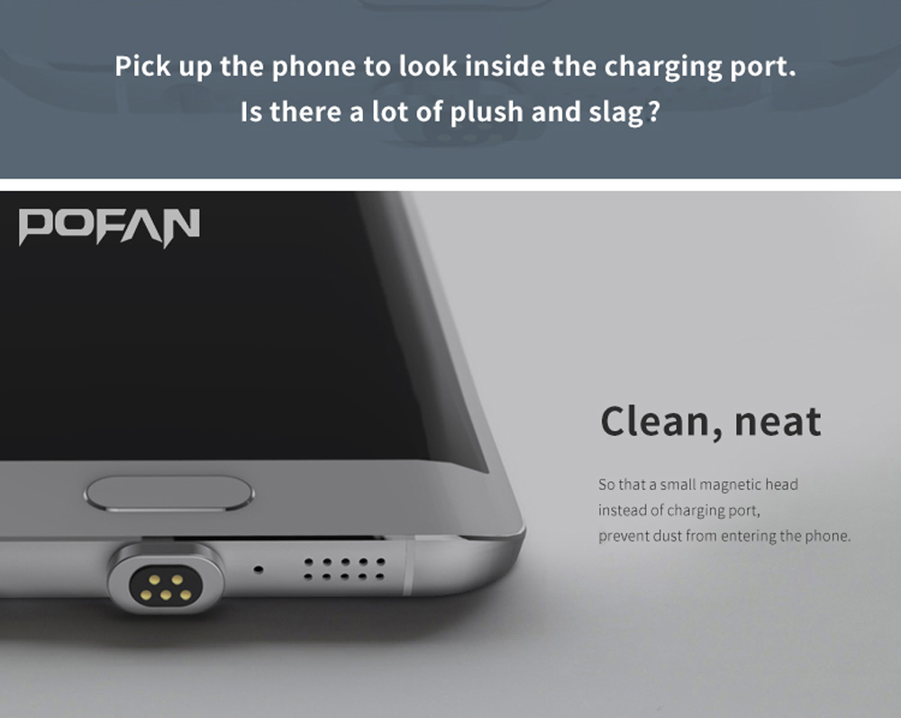 POFAN P10 Magnetic Connector Micro USB to Micro USB Adapter