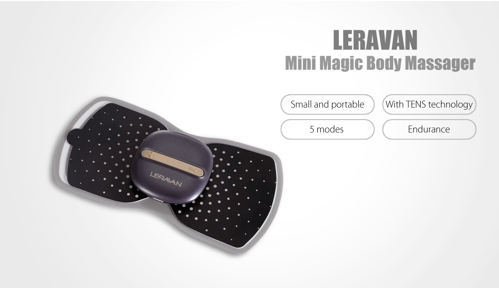 LERAVAN Intelligent Portable Health Body Fit Massager with Different Modes