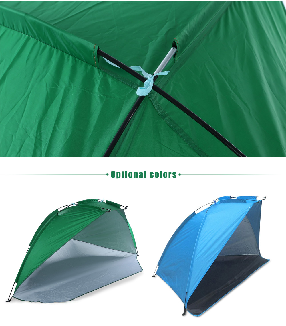 Portable Polyester Taffeta Anti-UV Water-resistant Fishing Tent Beach Sunshade