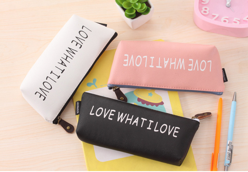 Boat Style PU Pen Bag Pouch Stationery Supplies