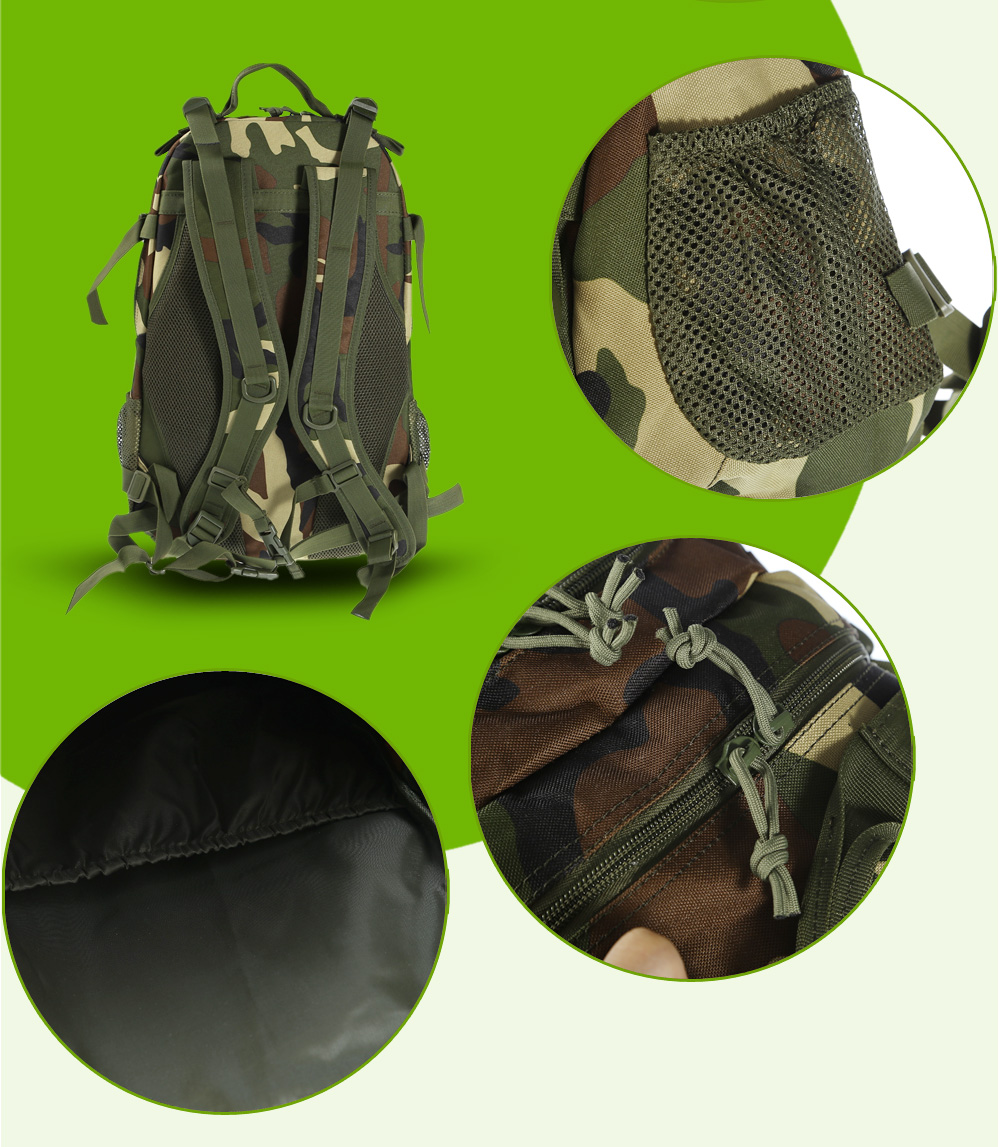BL076 Wear-resistant 40L Mountaineering Backpack Bag with Mesh Pad Back