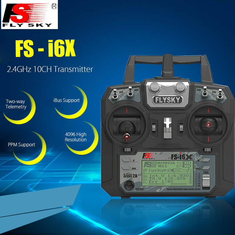FLYSKY FS - i6X 2.4GHz 10CH AFHDS 2A Transmitter with Receiver