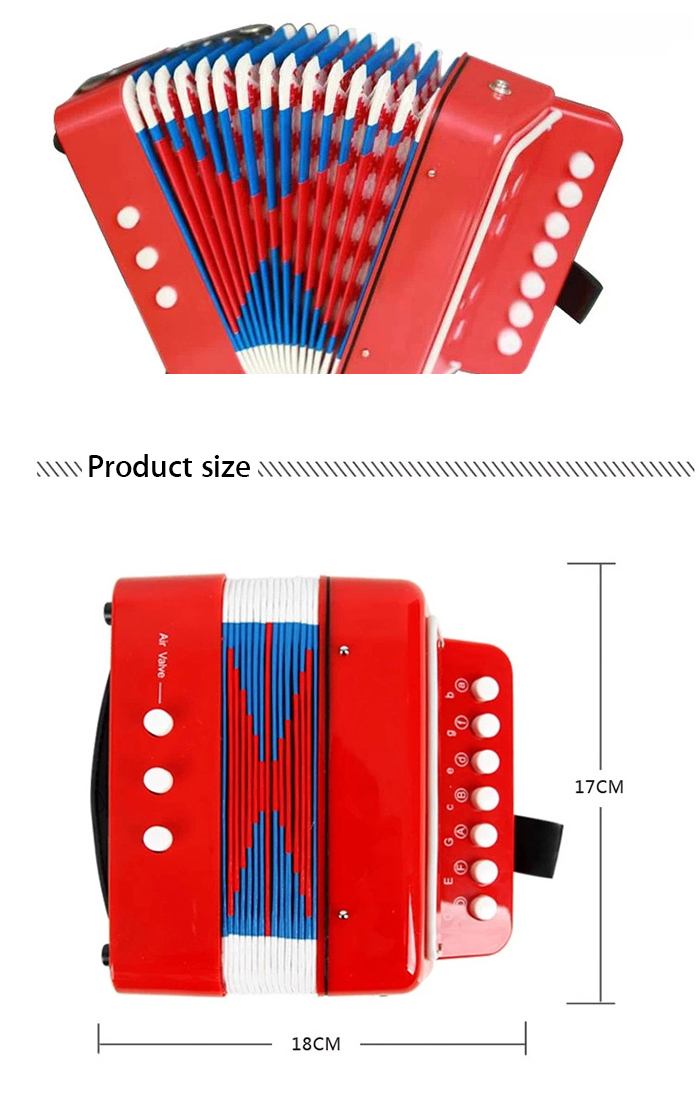 7 Key Accordion Children Educational Instrument Toy