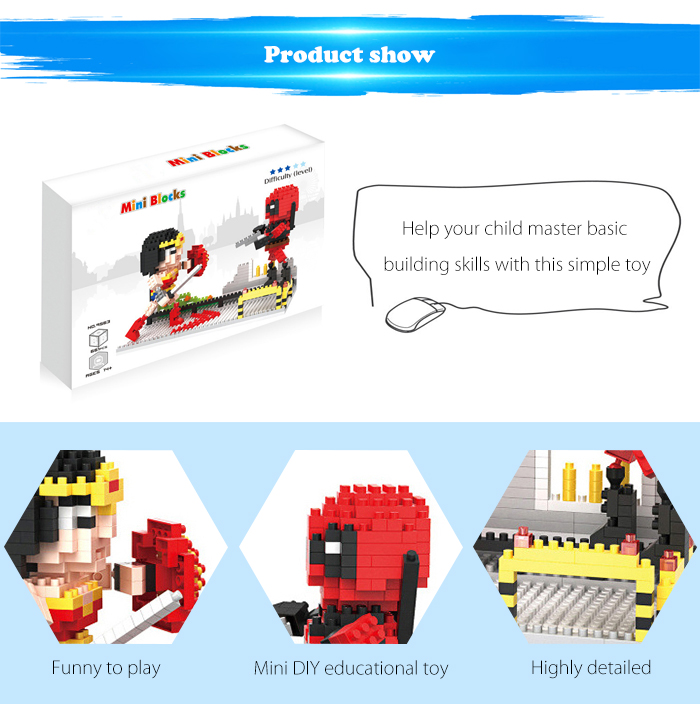 ABS Anime Figure Building Block Educational Movie Product Kid Toy - 661pcs