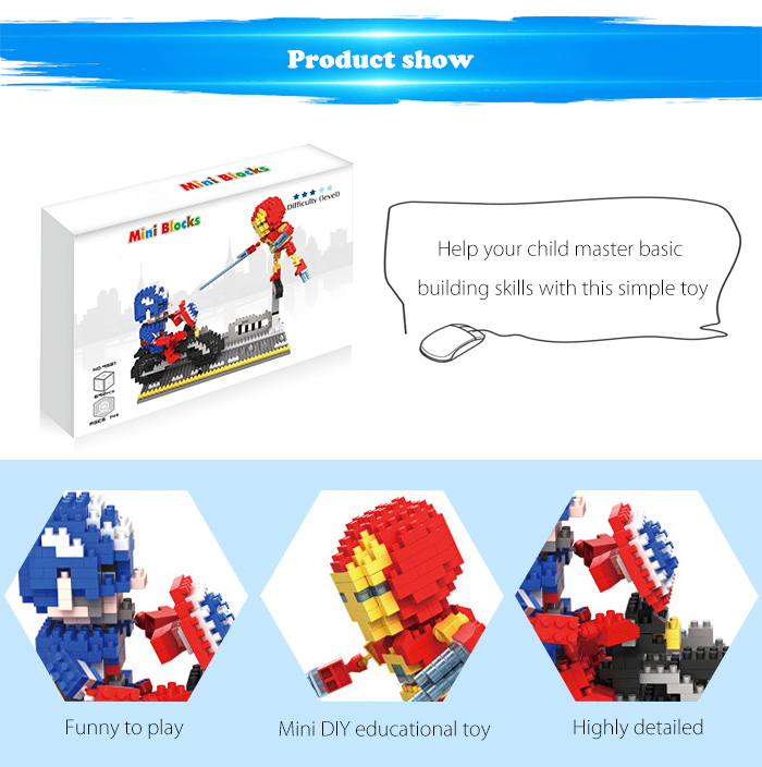 ABS Anime Figure Building Block Educational Movie Product Kid Toy - 692pcs