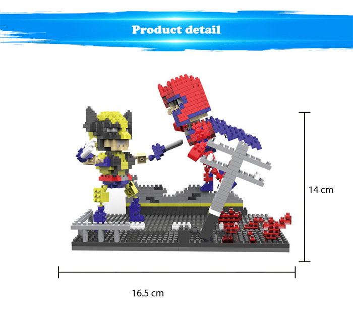 ABS Anime Figure Building Block Educational Movie Product Kid Toy - 675pcs