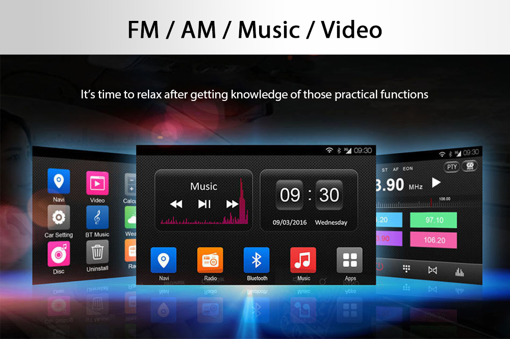 Ownice OL - 7903T Quad Core 7.0 inch Android 4.4 Bluetooth Car DVD Player Navigator for VW Touareg T5