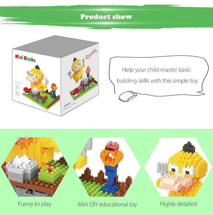 ABS Anime Figure Building Block Educational Movie Product Kid Toy - 339pcs