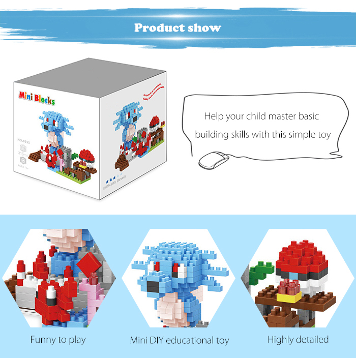 ABS Anime Figure Building Block Educational Movie Product Kid Toy - 316pcs