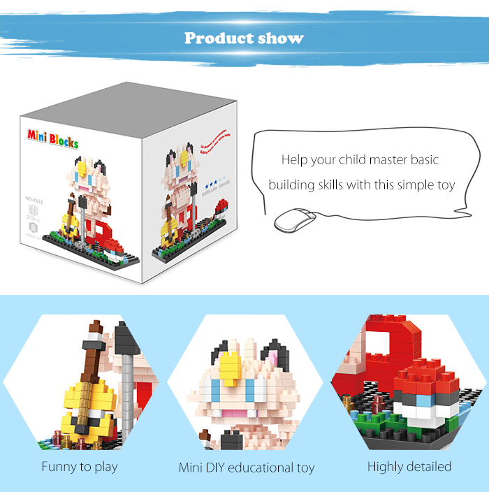 ABS Anime Figure Building Block Educational Movie Product Kid Toy - 303pcs