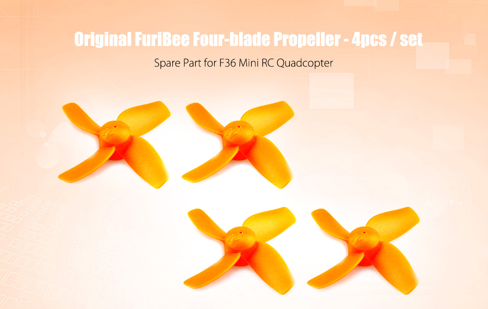 Original FuriBee Four-blade Propeller 4pcs for F36 / JJRC H36 Mini RC Quadcopter