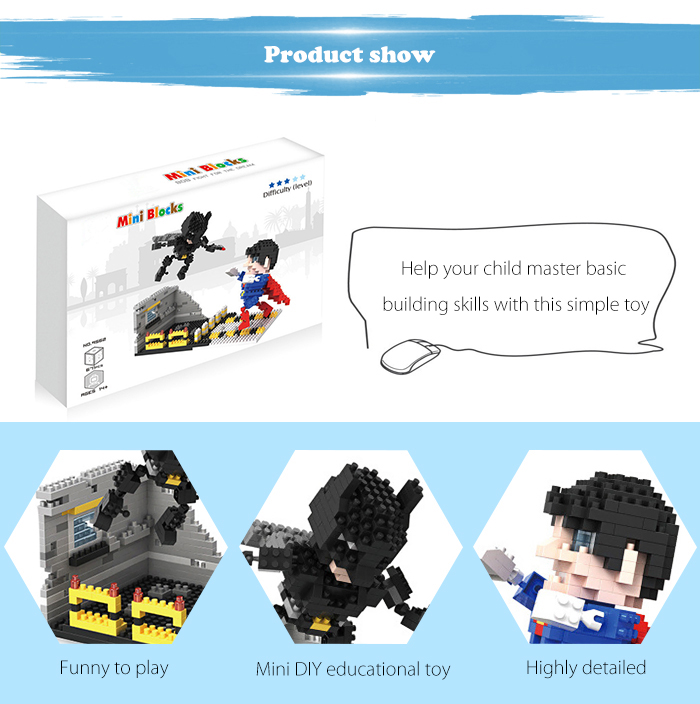 ABS Anime Figure Building Block Educational Movie Product Kid Toy - 671pcs
