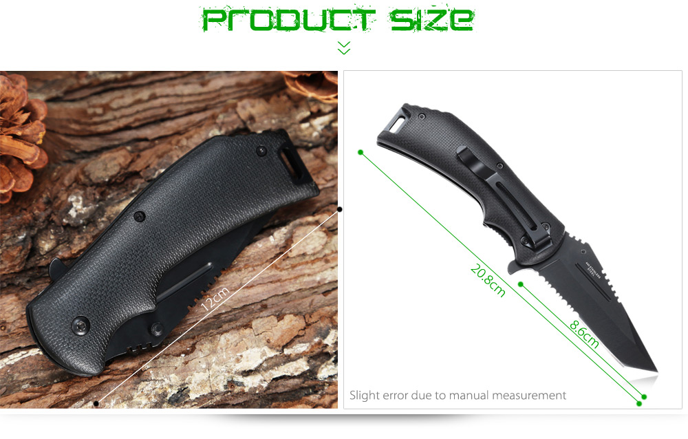 440 Stainless Steel Liner Lock Folding Knife with Quick-open Design