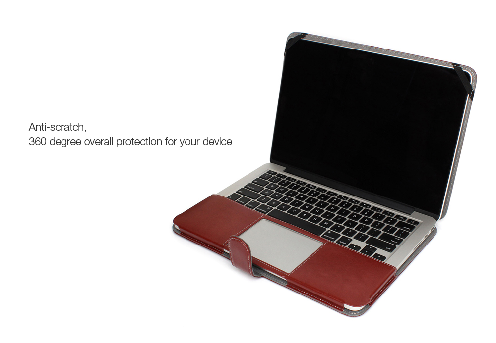 ENKAY Super Soft PU Leather Protective Full Body Case for MacBook Pro 13.3 inch with Retina Display