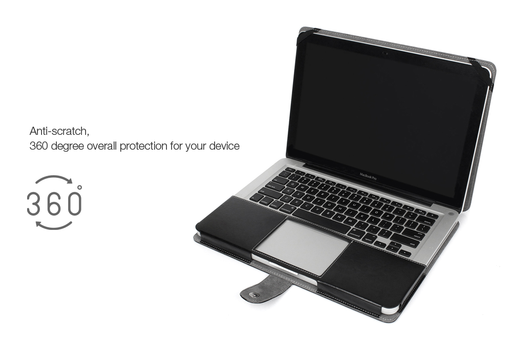 ENKAY Super Soft PU Leather Protective Full Body Case for MacBook Pro 13.3 inch