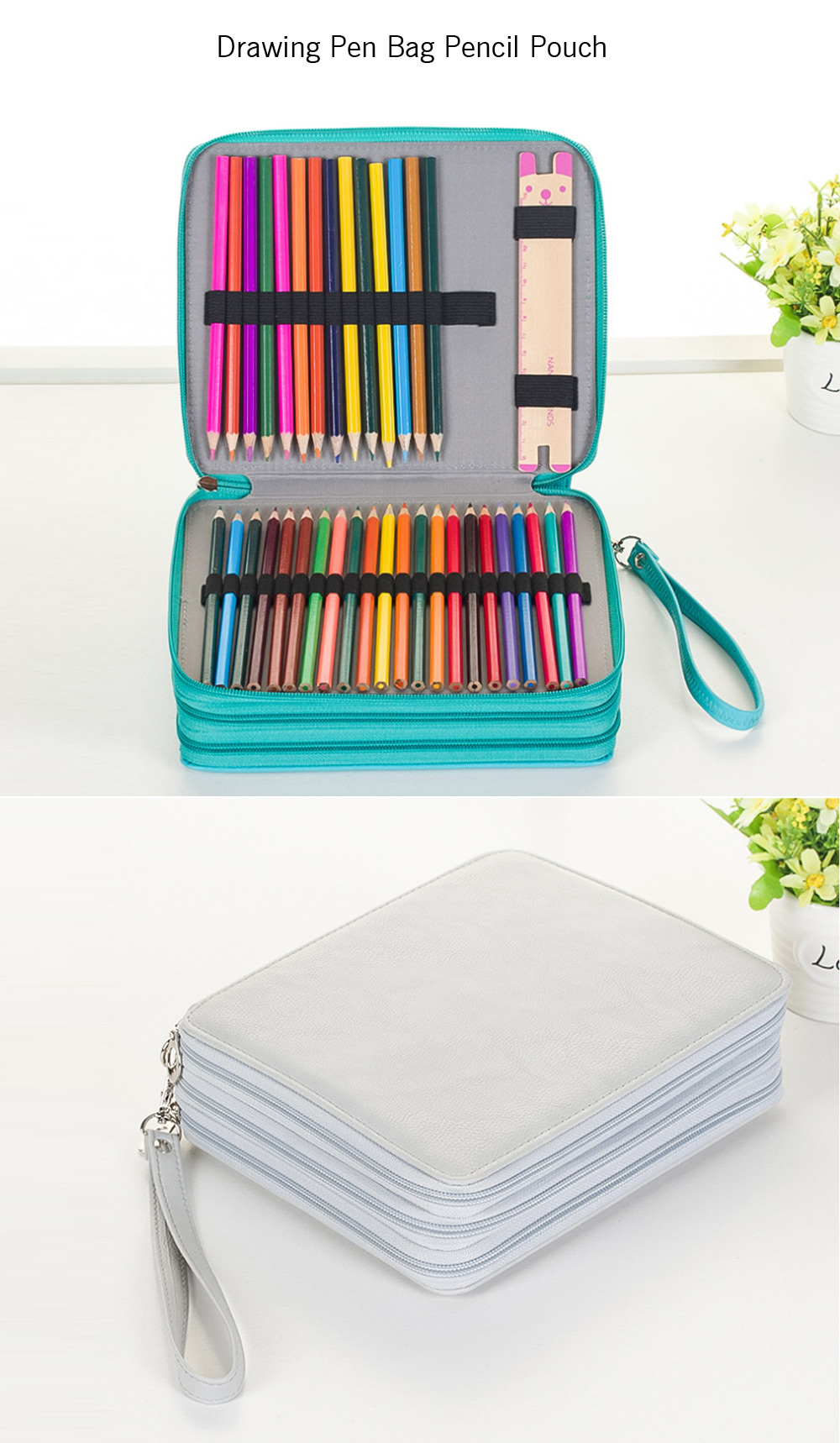Drawing Pen Bag Pencil Pouch with Big Capacity