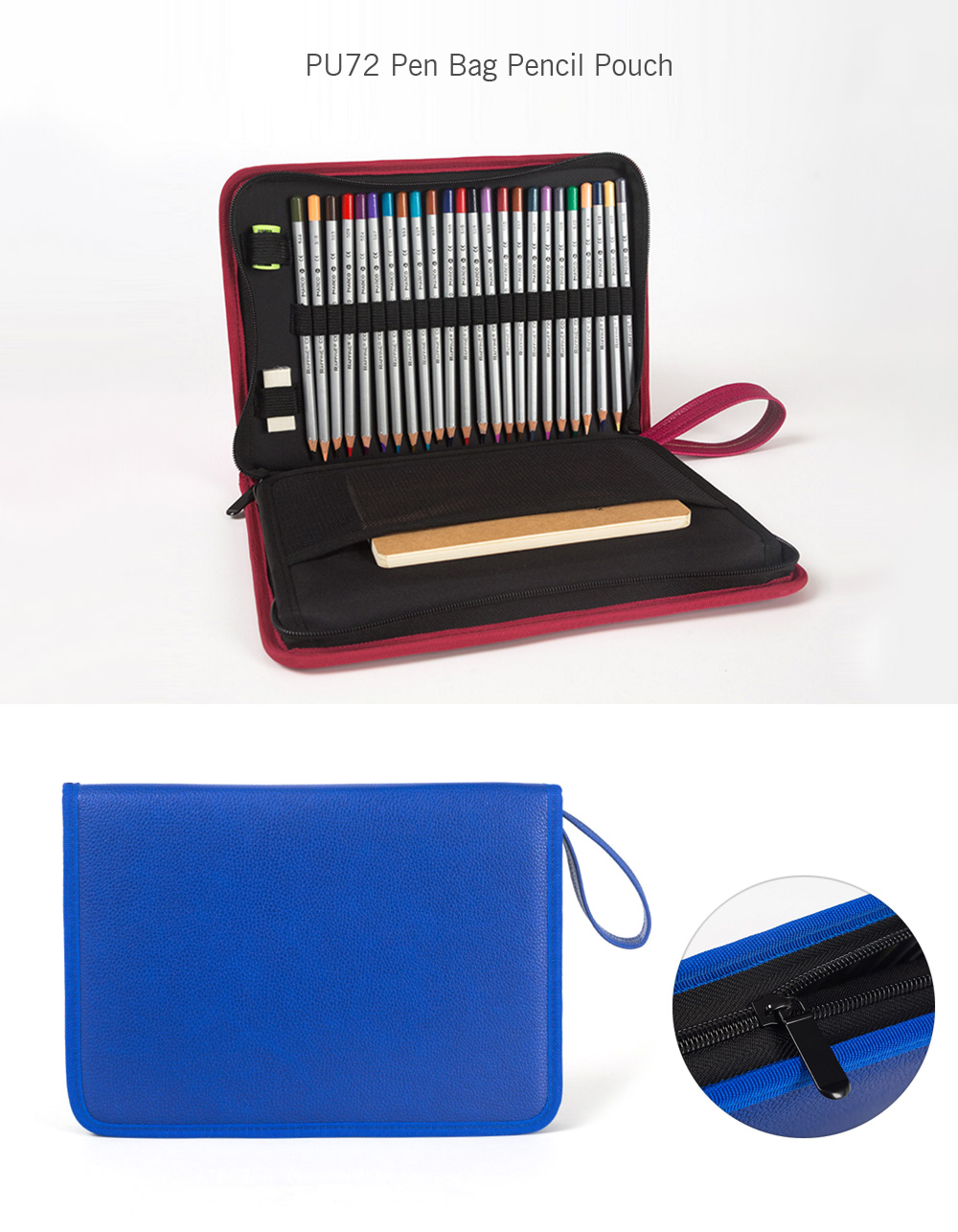 PU72 Pen Bag Pencil Pouch with Big Capacity