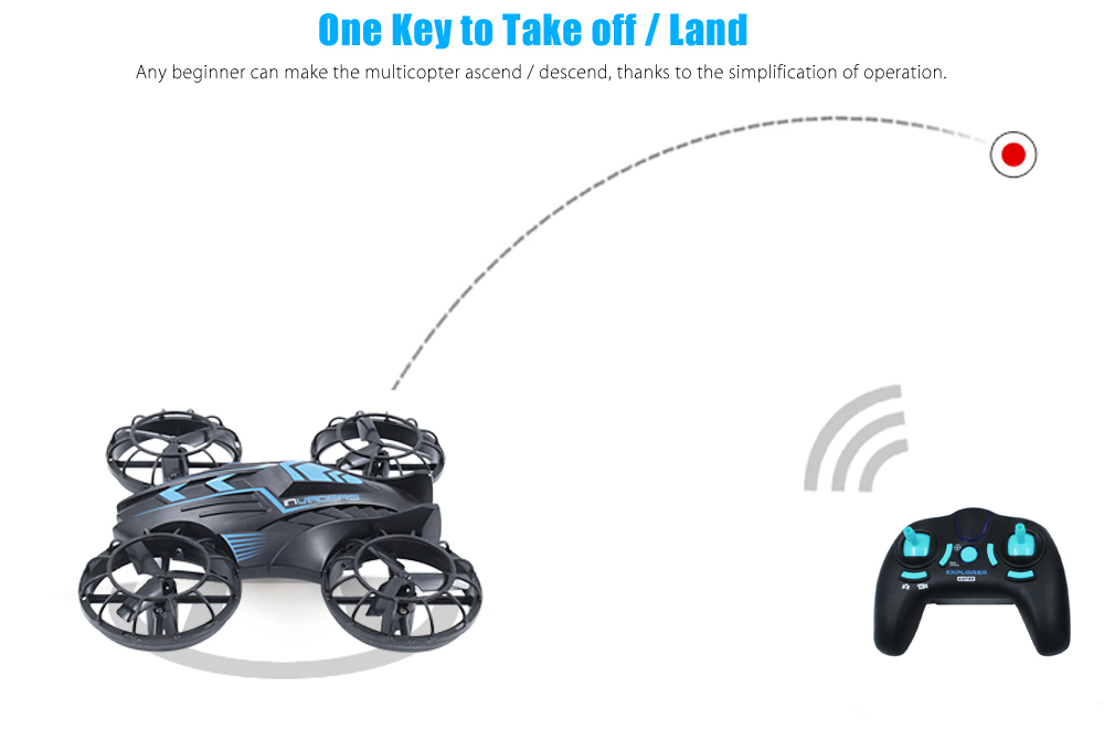 JXD 515V Mini RC Drone RTF 0.3MP Camera / 2.4GHz 4CH 6-axis Gyro / Altitude Hold