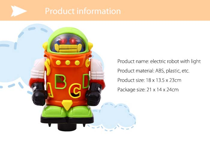 Electronic Walking Robot Toy with Flash Light Birthday Present
