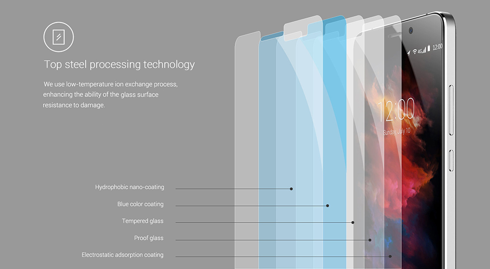 Original UMi Tempered Glass Screen Protective Film for Max 0.26mm 2.5D 9H Explosion-proof Protector