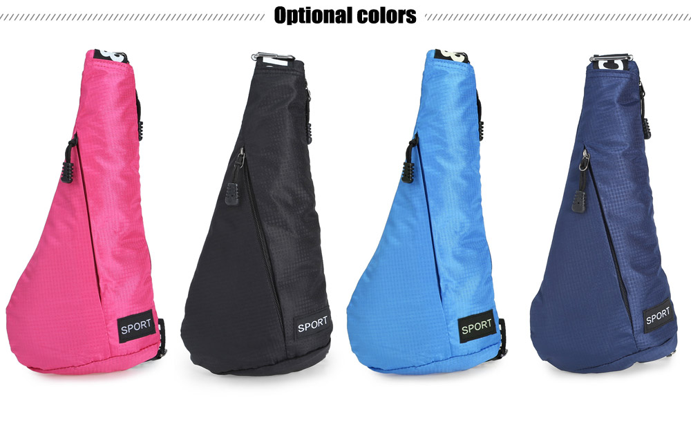 Compact Nylon / Polyester 3L Leisure Sling Bag with Wide Strap