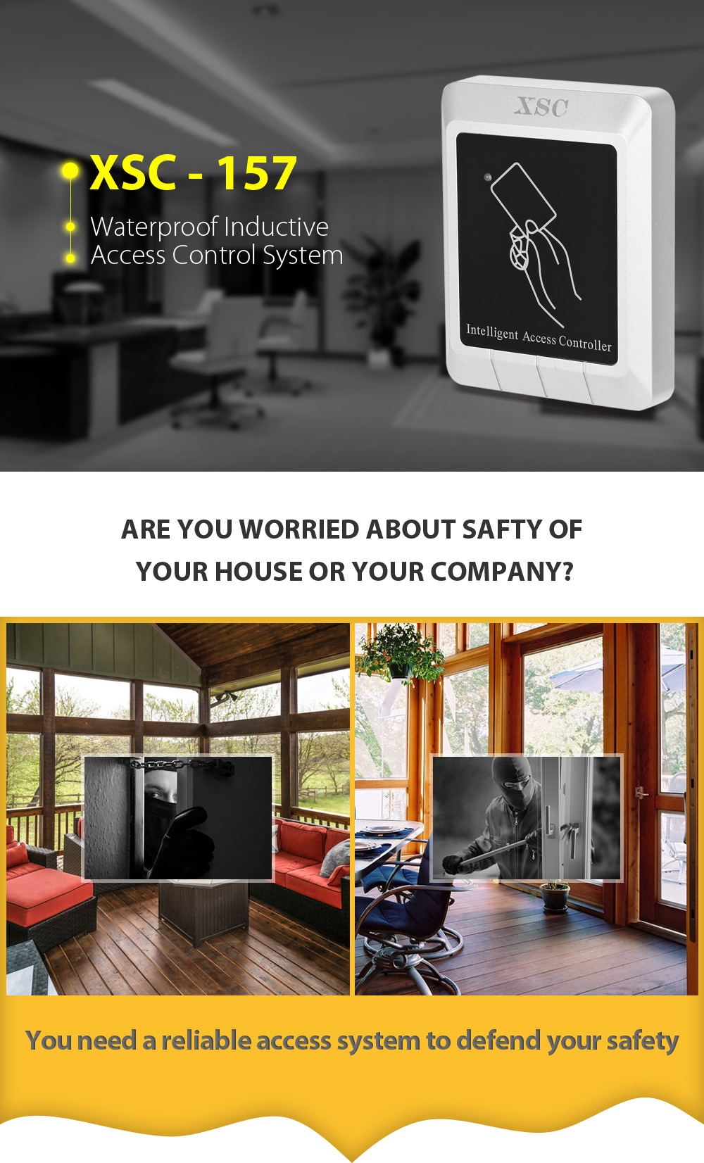 XSC - 157 Water-resistance Inductive Access Control System for 2000 Users