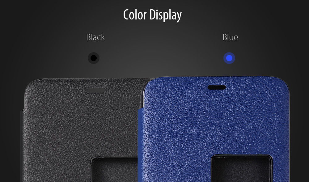 Original Elephone PU Leather Full Body Cover Case Protector for S7 Lichee Pattern Mobile Shell View Window