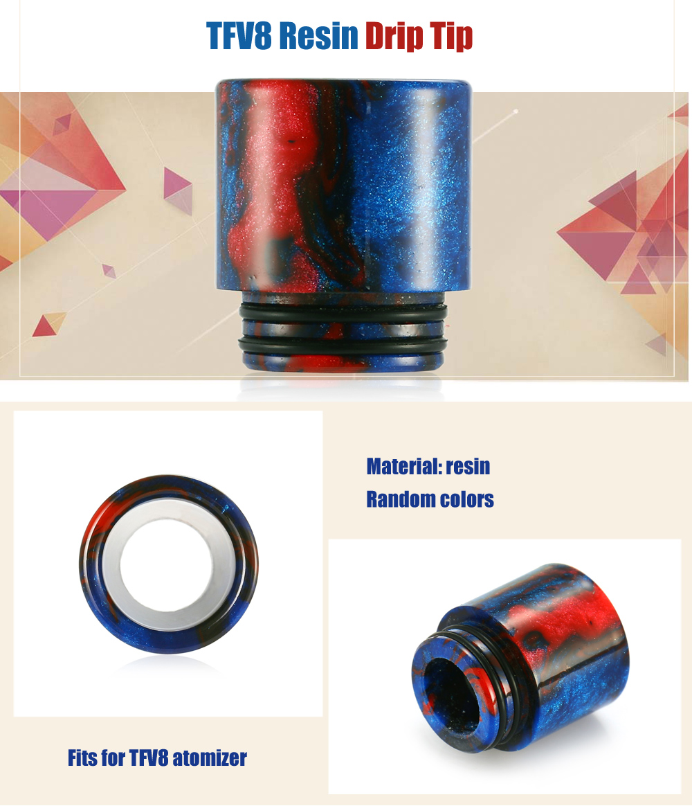 TFV8 Resin Drip Tip with Resin Construction