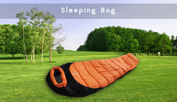 Mummy Style 1-person Sleeping Bag with Warm Cotton Filling