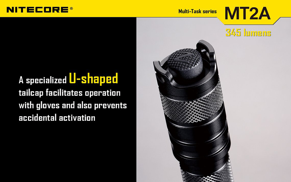 Nitecore MT2A  LED Torch Cree XP-G R5 345lm LED 6 Modes ( 2 x AA Battery )