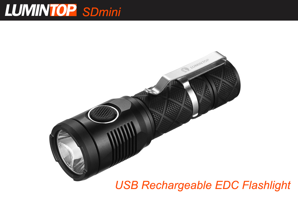LUMINTOP SDmini 1000Lm Cree XPL HD Rechargeable LED Flashlight