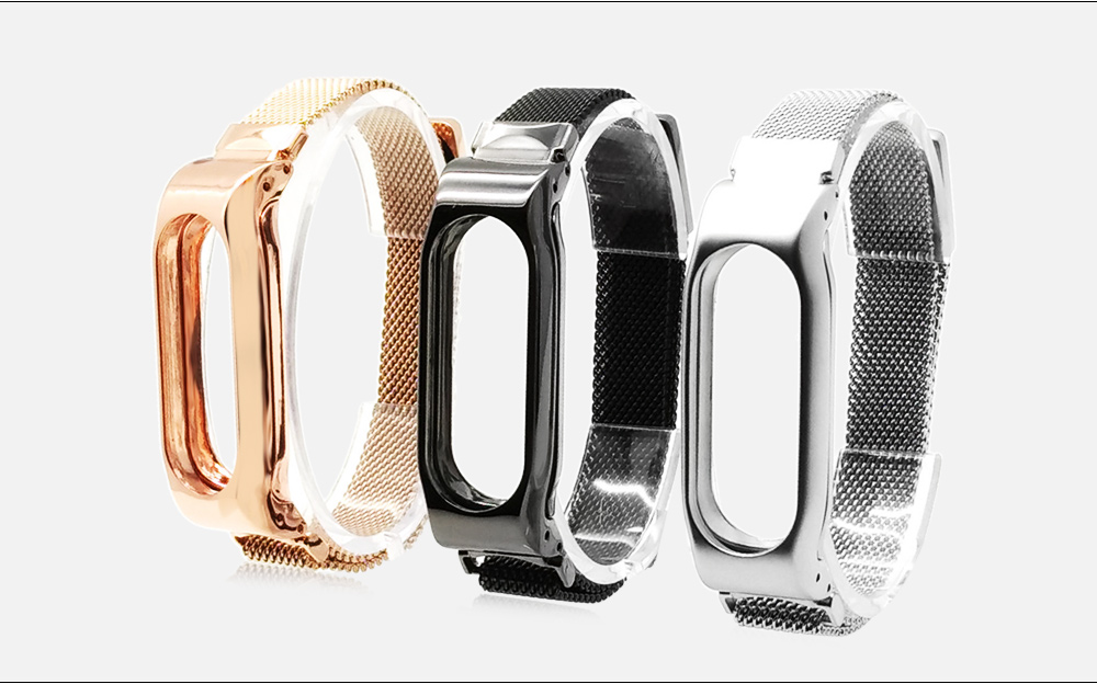 Milanese Stainless Steel Wristband for Xiaomi Miband 2