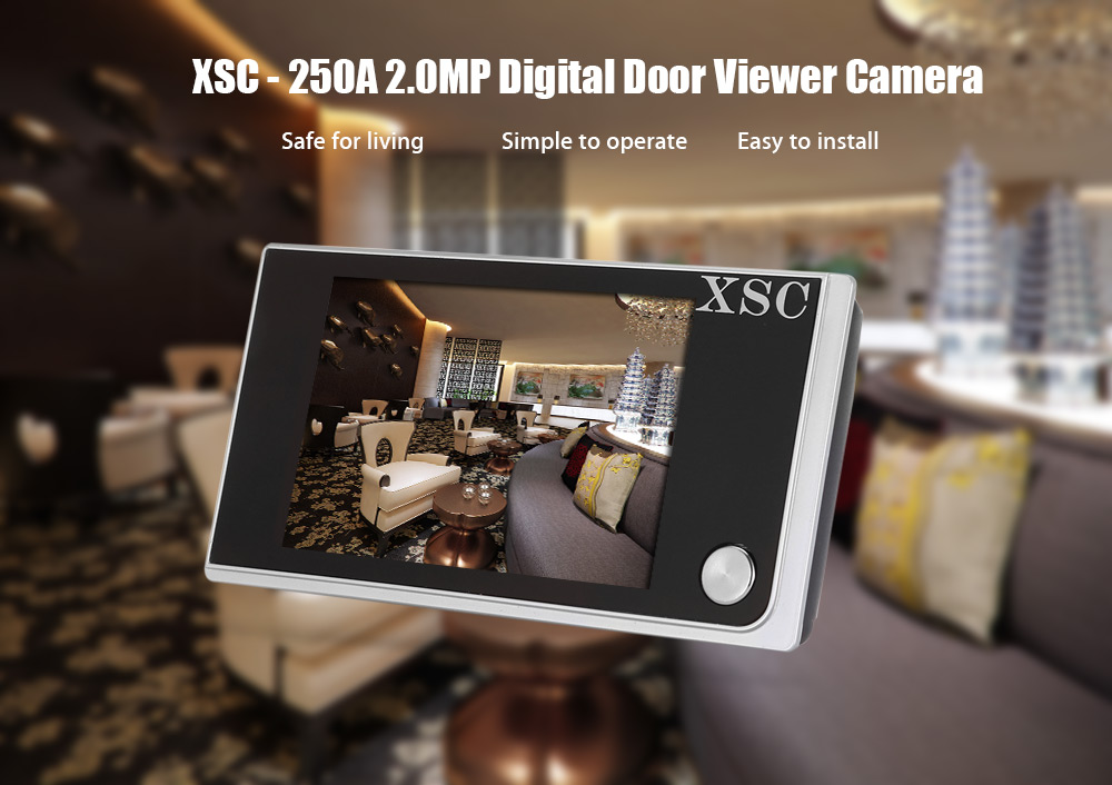 XSC - 250A Digital Door Viewer Camera 2MP 120 Degree Viewing Angle