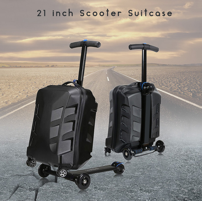 21 inch PC Scooter Suitcase with Aluminum Alloy Frame / 360 Degree Spinner Wheel