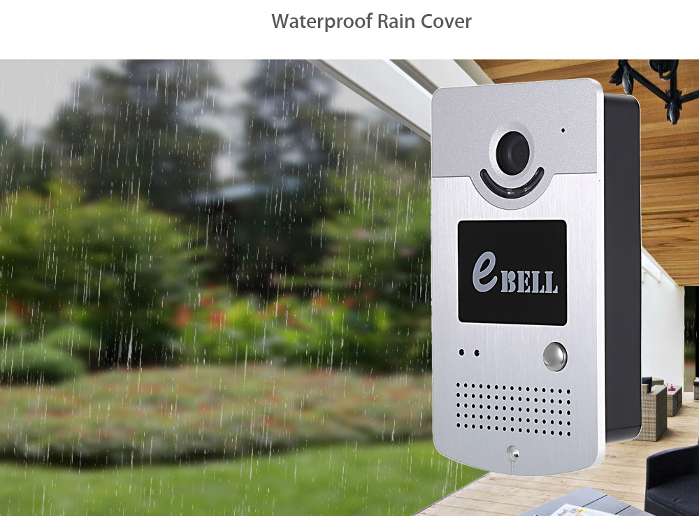 eBELL ATZ - DBV03P Smart IP Doorbell 1.0MP 720P WiFi Camera Motion Detection