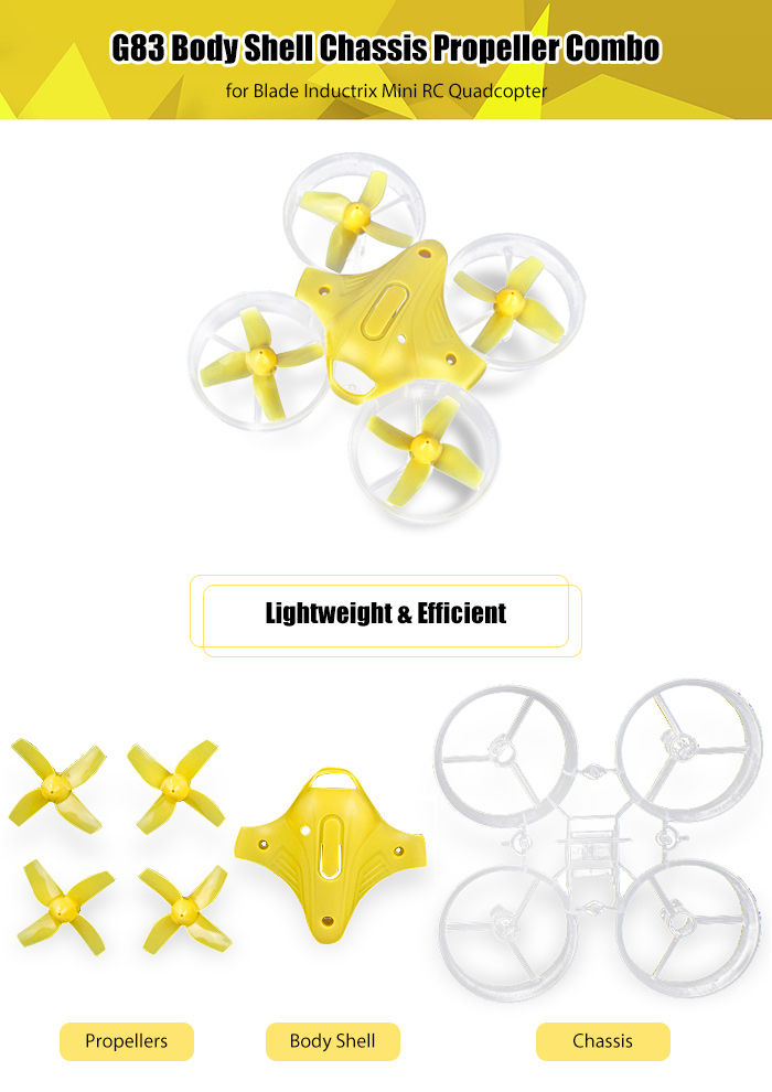 G83 Body Shell Chassis Propeller Combo for Blade Inductrix