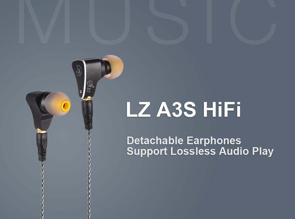 LZ A3S HiFi Noise-canceling Removable Earphones Equipped