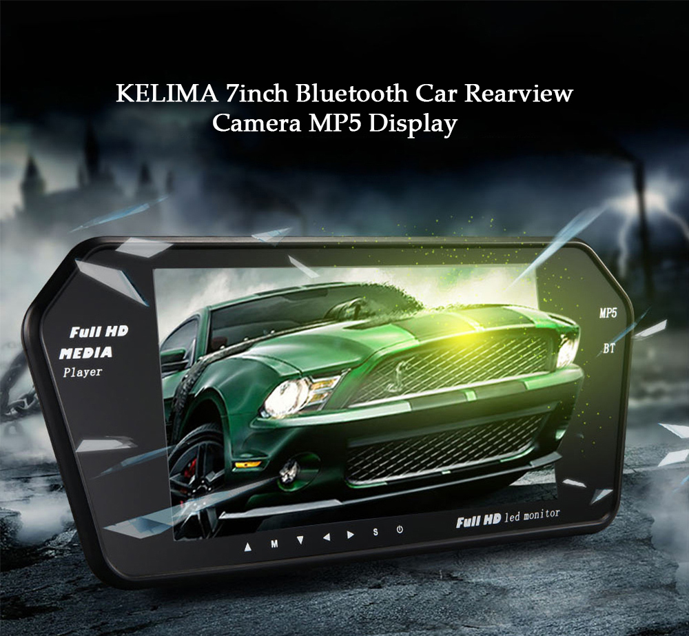 KELIMA 7 inch Bluetooth MP5 LED Monitor for Rearview Camera Display