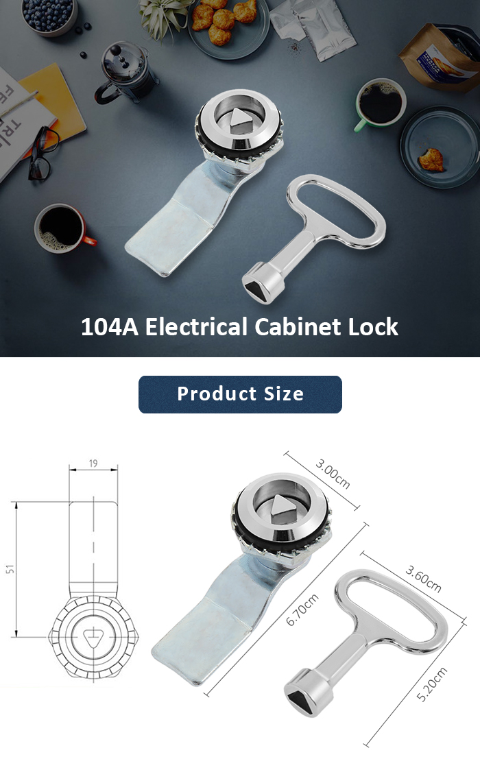 104A Practical Zinc Alloy Electrical Cabinet Lock Kit
