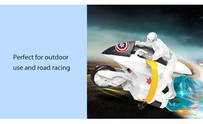 Infrared Remote Control Anime Figure Motorcycle Model Rechargeable Toy