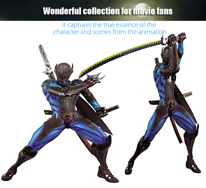 Shooting Game Action Figure Collectible ABS + PVC Figurine Toy - 11.4 inch