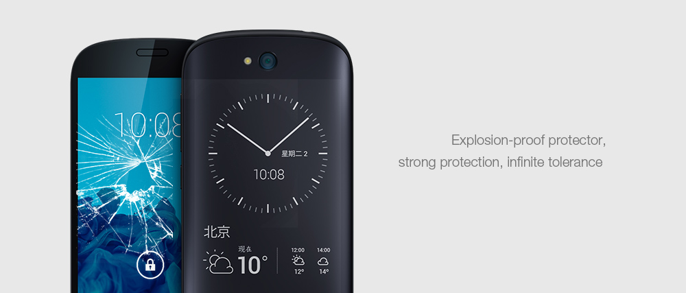 Luanke Tempered Glass Screen Film for YotaPhone2 Ultra-thin 0.26mm 2.5D 9H Explosion-proof Protector