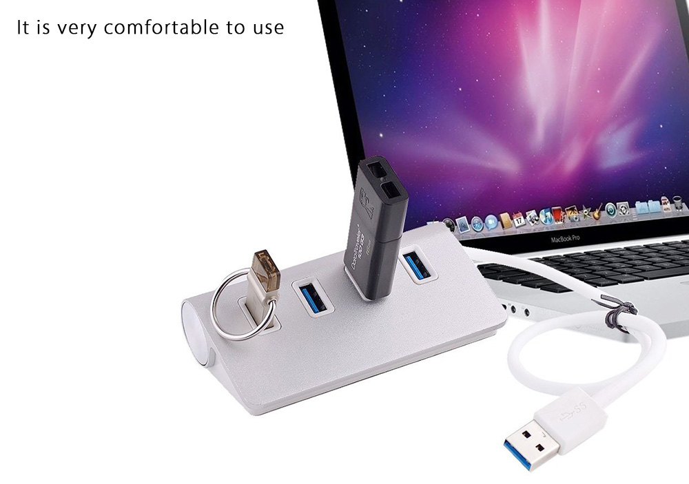 U3 - 272 Aluminum Alloy 4-port USB 3.0 HUB for PC / Laptop / Notebook / Desktop