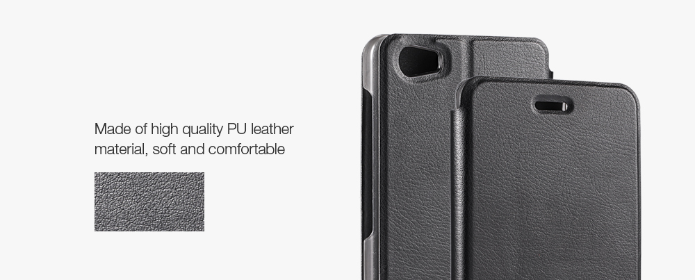 OCUBE PU Leather Full Body Phone Protective Case with Foldable Stand for Vernee Mars