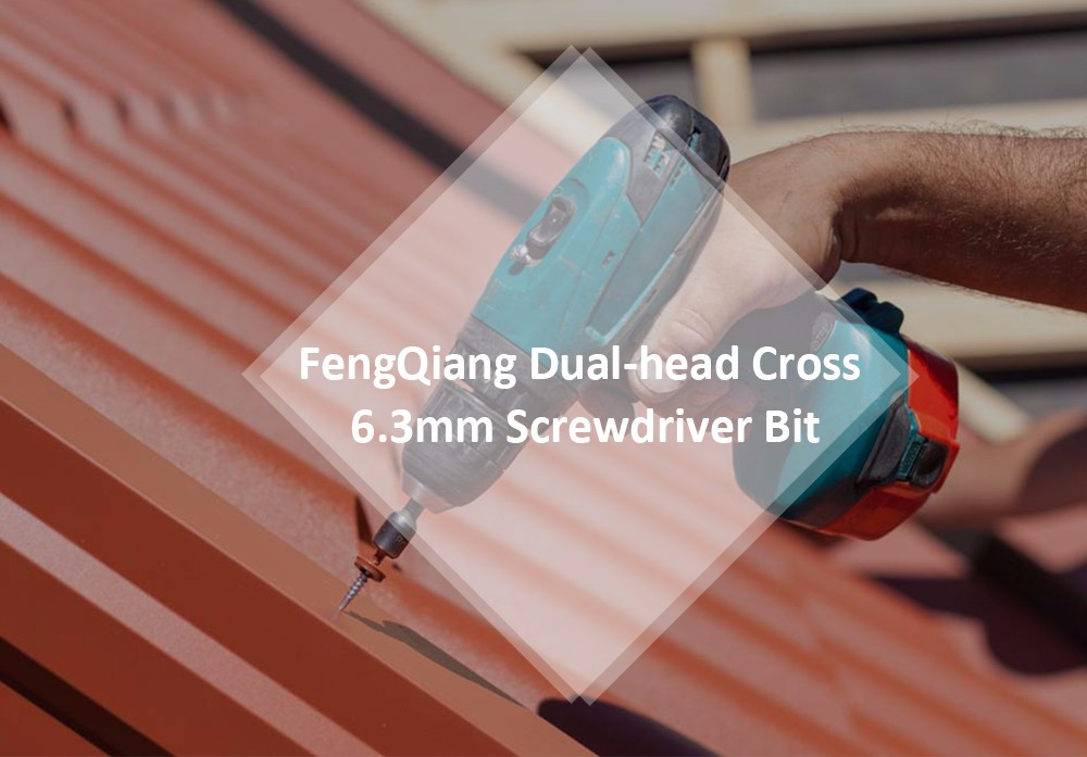 FengQiang Dual-head Cross 6.3mm Electric Screwdriver Bit for Cordless Drill