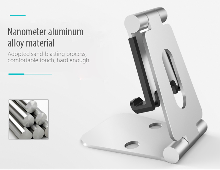 Seenda Universal Foldable Phone Bracket Tablet Stand Holder Aluminum Alloy Support Free Adjustment